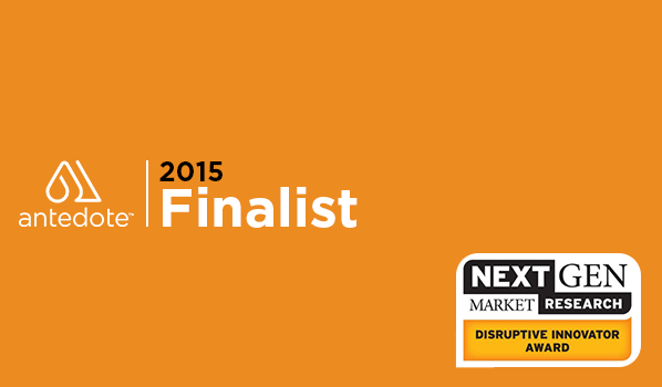Next Gen market Research Disruptor Innovator Award 2015 Finalist